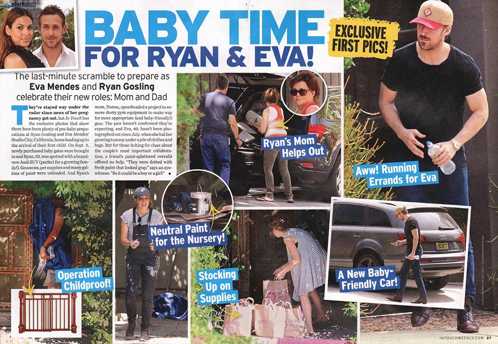 Ryan Gosling is a doting daddy-to-be!   Coleman-Rayner Rachel Mcadams Date
