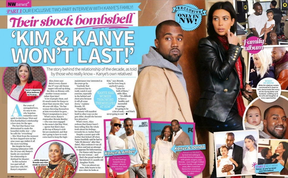 NW AU - Issue 15 - Page 32-33 - Part 1 - Exclusive interview with Kanye West's family