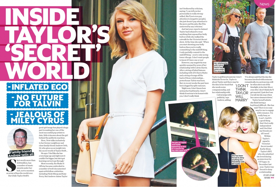 NOW UK - Issue 48 - 11.23.15 - Taylor Swift's secret world, Andrew Orth - pg. 16-18 -