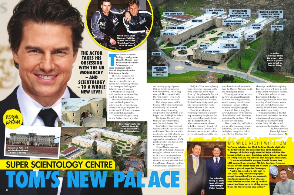 04.04.2016 - NEW IDEA AU - Issue 14 - Tom Cruises Scientology palace in the UK - pg. 24-25