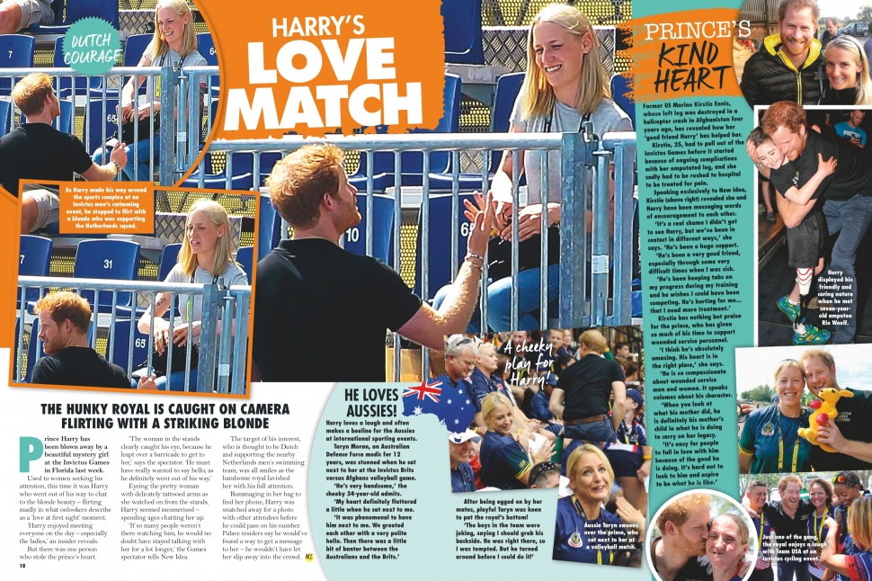 05.23.2016 - NEW IDEA AU - Issue 21 - Prince Harry Invictus Games in Orlando, FL - pg. 18-19
