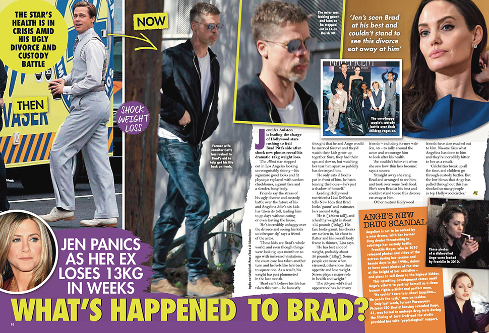 Brad Pitt looks noticeably thin as he arrives at a Los Angeles studio sporting a new 'Peaky Blinders' style haircut.
