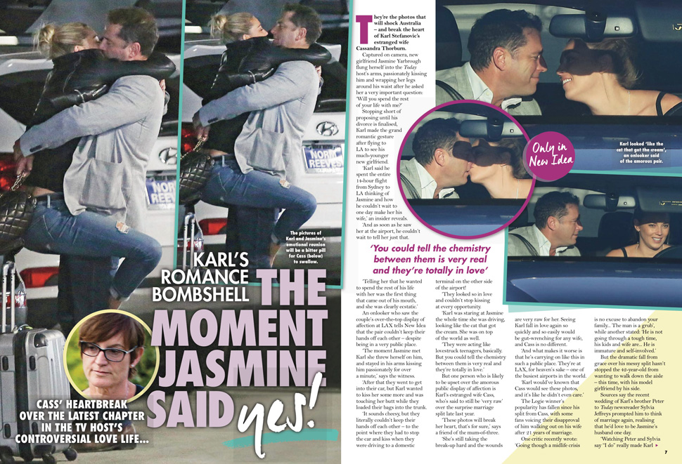 Karl Stefanovic & Jasmine Yarbrough Caught Kissing In Public