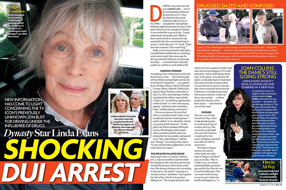 'Dynasty' Star Linda Evans' Secret DUI Shame